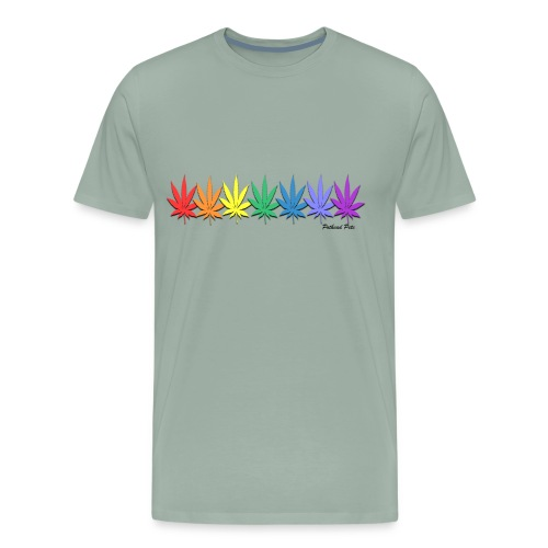 rainbow leaves - Men's Premium T-Shirt