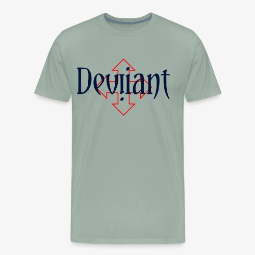 Deviiant blk center outl - Men's Premium T-Shirt