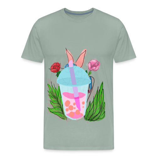 Floral bubble tea - Men's Premium T-Shirt