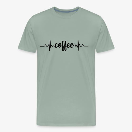 Coffee Heartbeat for Caffeine Lovers - Men's Premium T-Shirt