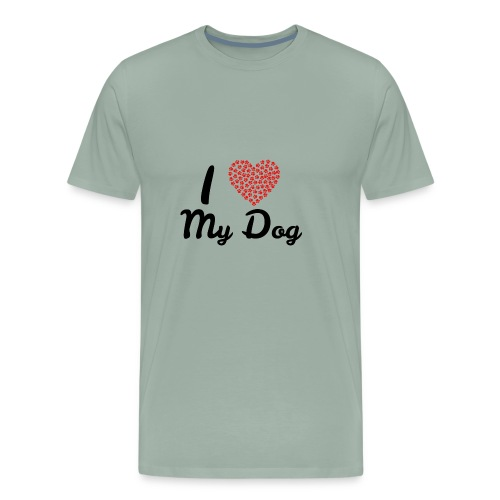 I love my dog - Men's Premium T-Shirt