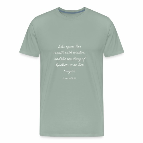 Mom Proverbs 31:26 - Men's Premium T-Shirt