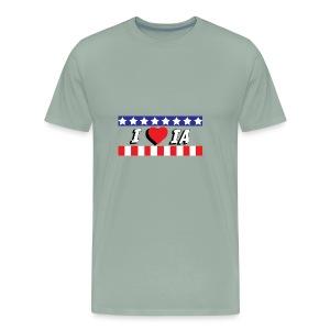 I love Iowa, IA - Men's Premium T-Shirt