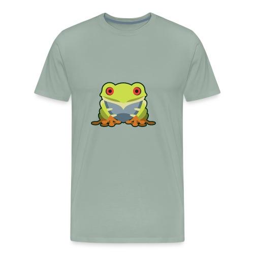Cute Kawaii Green Tree Frog - Men's Premium T-Shirt