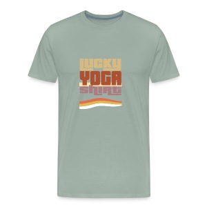 Lucky Yoga shirt, retro, vintage, 80s, #Yoga - Men's Premium T-Shirt