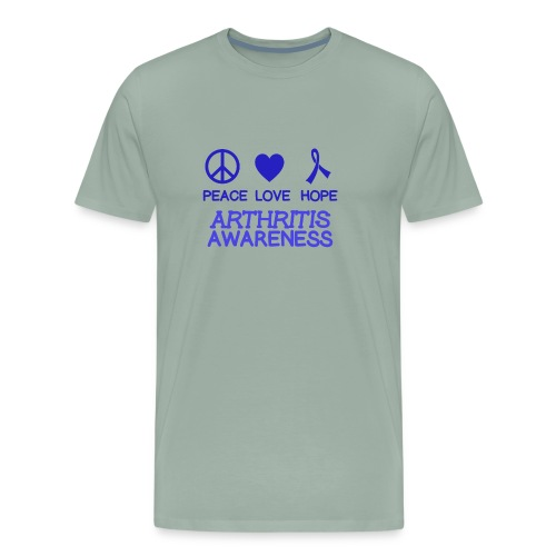 Arthritis awareness peace love hope - Men's Premium T-Shirt