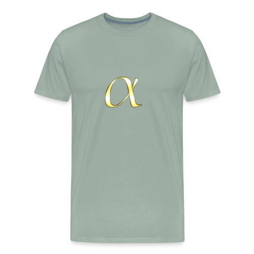 Alpha in Gold - Men's Premium T-Shirt