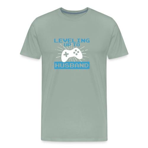 Funny Leveling Up To Husband T-Shirt - Men's Premium T-Shirt