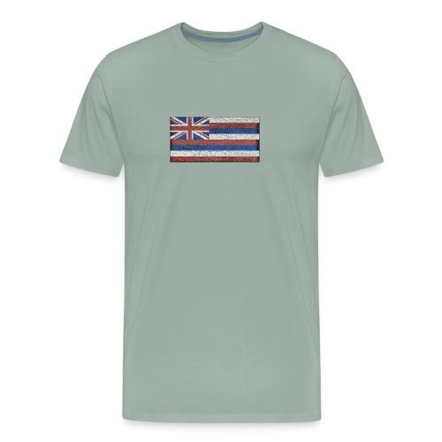 Hawaii Grunge Flag - Men's Premium T-Shirt