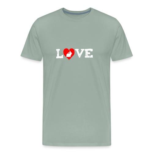 I Love my Rabbit I Heart my Bunny Easter - Men's Premium T-Shirt