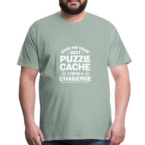 Best Puzzle Cache I Need A Challenge Geocache - Men's Premium T-Shirt