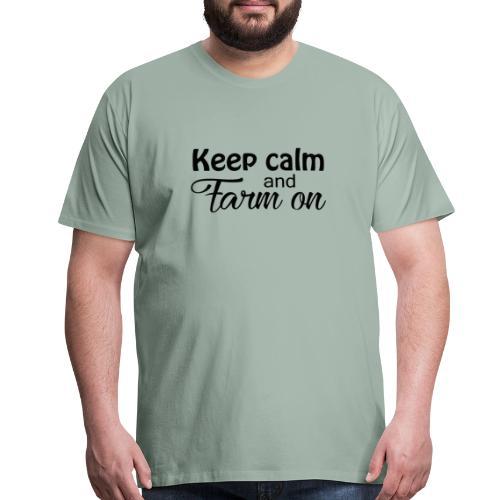 Keep calm design - Men's Premium T-Shirt
