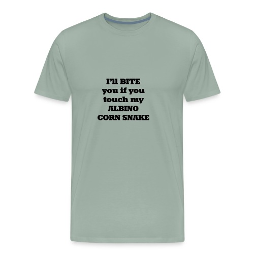 Albino Corn Snake I'll Bite You if You Touch My - Men's Premium T-Shirt