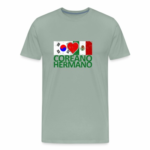 Mexico Soccer Jersey Shirt Mexico and Korea flag - Men's Premium T-Shirt