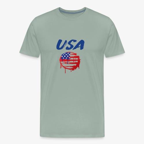 USA Graffiti Flag - Men's Premium T-Shirt