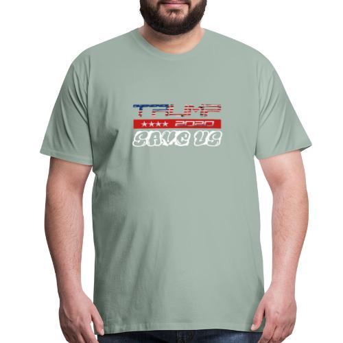 NEW t-shirt Trump 2K20 - SAVE US - Men's Premium T-Shirt