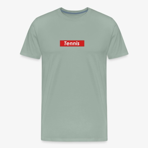 Tennis Box Logo - Men's Premium T-Shirt
