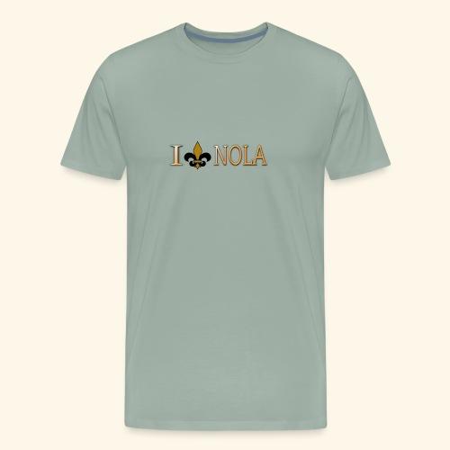 I Love Nola New Orleans Fleur De Lis - Men's Premium T-Shirt