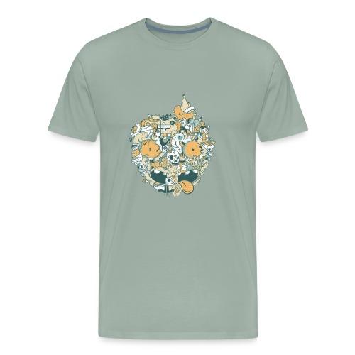 EARTH - Global Warming Effects - Men's Premium T-Shirt