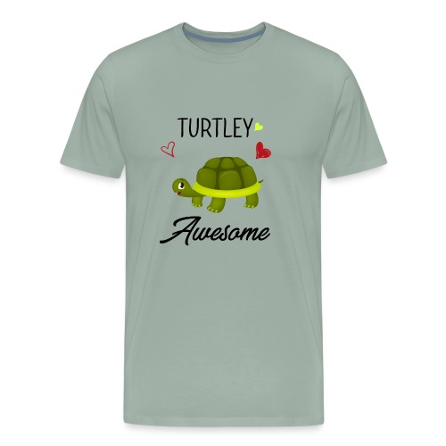 Turtley Awesome - Funny Turtley Cute - Love gift - Men's Premium T-Shirt