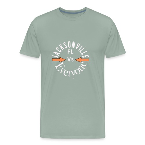 Cool Jacksonville v everyone design - Men's Premium T-Shirt