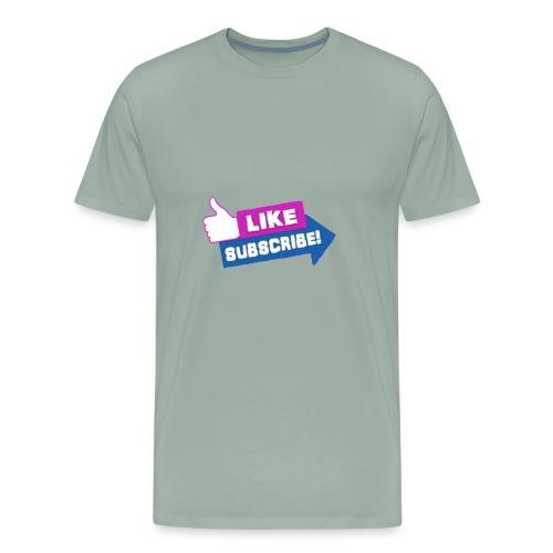 LIKE AND SUB - Men's Premium T-Shirt