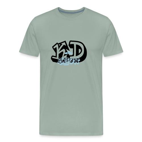 K&D Logo Black on Light Blue - Men's Premium T-Shirt