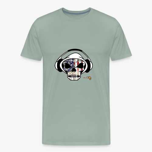americam skull flag - Men's Premium T-Shirt