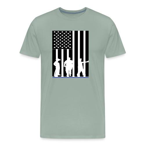 LAW ENFORCEMENT TRIO FLAG SHIRT - Men's Premium T-Shirt