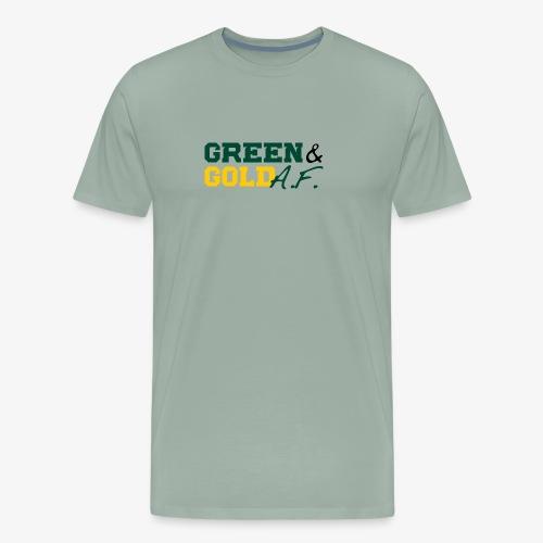 Green and Gold AF - Men's Premium T-Shirt