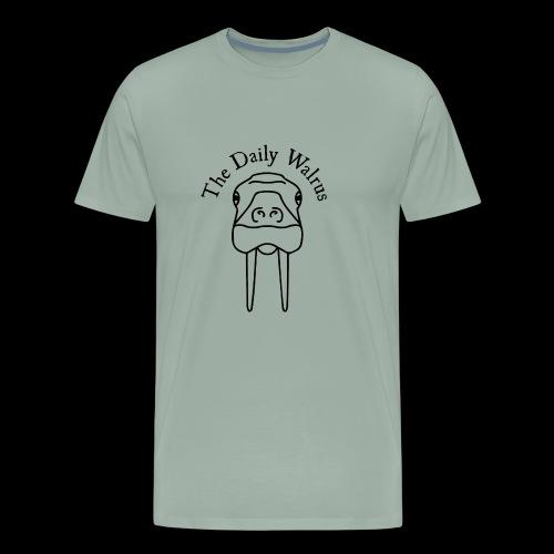 Walrus logo black - Men's Premium T-Shirt