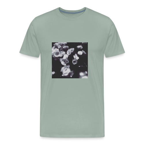 the roses have not been painted red...yet - Men's Premium T-Shirt
