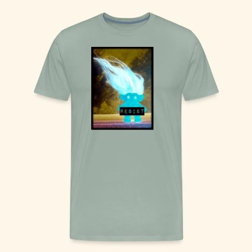 Introverted RESIST troll - Men's Premium T-Shirt