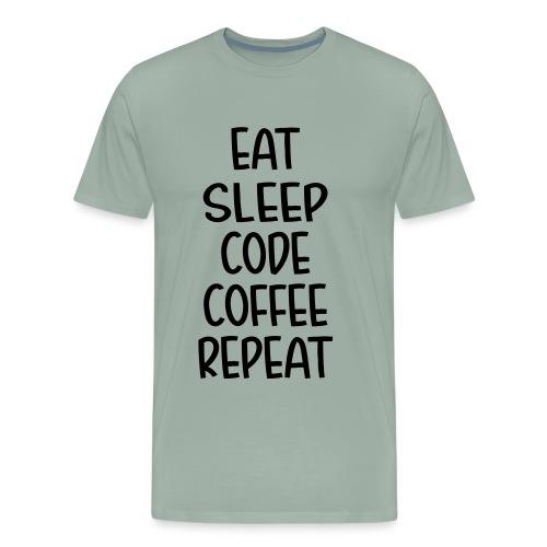 Eat Sleep Code Coffee - Men's Premium T-Shirt