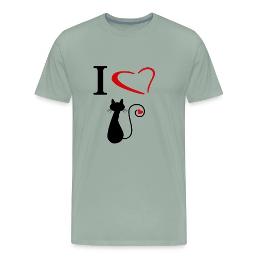 i love cats - Men's Premium T-Shirt