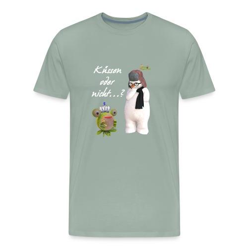Küssen oder nicht...? - Men's Premium T-Shirt