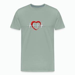 Nurse life heartbeat cardiac Nurse - Men's Premium T-Shirt