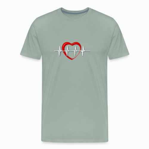 Nurse life heartbeat cardiac Nurse - Men's Premium T-Shirt