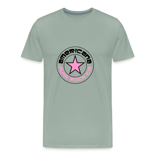 americana punk rock pink - Men's Premium T-Shirt