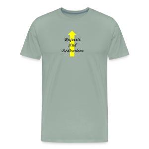r d black 2Fyellow on trans - Men's Premium T-Shirt