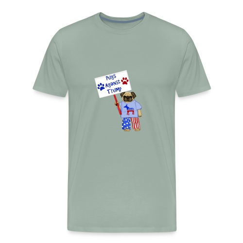 Protester Pug - Men's Premium T-Shirt