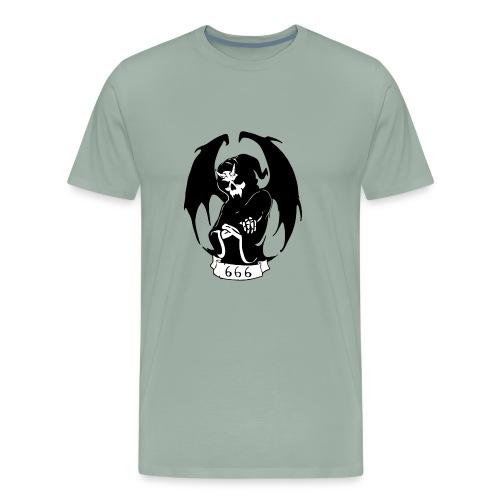 Unit 666 Grey scale Front Print - Men's Premium T-Shirt