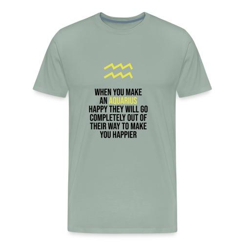 Zodiac. Aquarius. Horoscope. Birthday Gift - Men's Premium T-Shirt