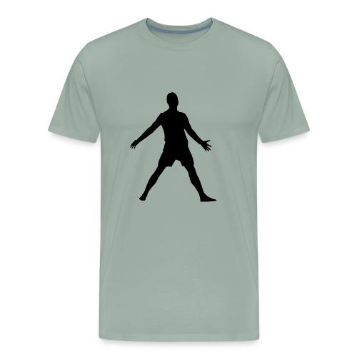 football player celebrating - Men's Premium T-Shirt