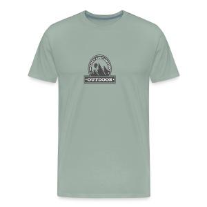 OUTDOOR MOUNTAIN CAMPING Motivational - Men's Premium T-Shirt