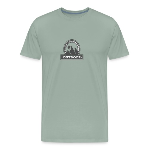 OUTDOOR MOUNTAIN CAMPING Motivational - Men's Premium T-Shirt