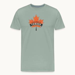 I WAS MADE IN CANADA -Linen -Carolyn Sandstrom - Men's Premium T-Shirt