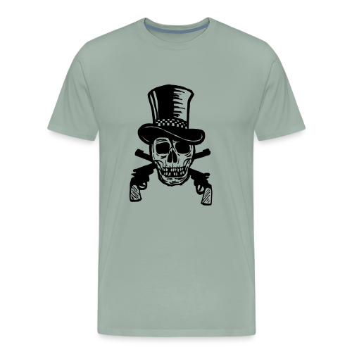 The Gunfighter Skull - Men's Premium T-Shirt