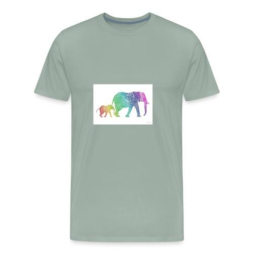 Zentangle Elephants - Men's Premium T-Shirt