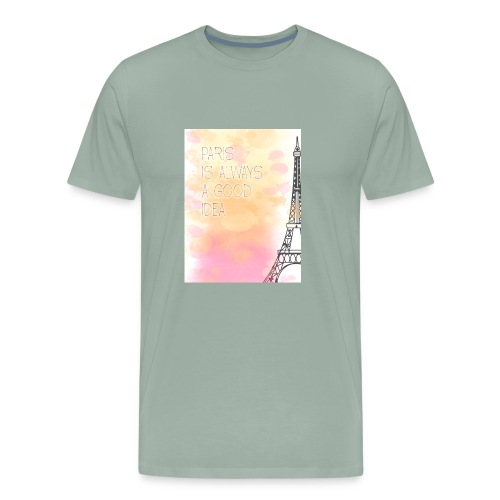 PARIS GOOD IDEA watercolor - Men's Premium T-Shirt